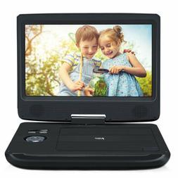 "10.1"" TFT Portable Car DVD Player 270° Swivel Screen USB"
