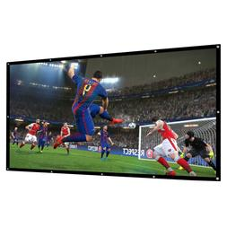 100 Inch Projector Screen Foldable For Home Theater Movie Ou