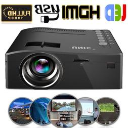 1080P 3D HD LED Projector Smart Home Theater Multimedia PC U