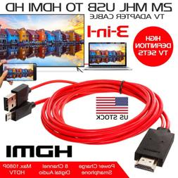 1080P MHL Micro USB To HDMI HD TV Cable Adapter for Samsung