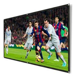 120 Inch 16:9 HD Portable Projector Screen Foldable HD Movie
