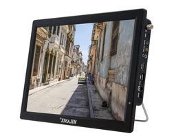 "Milanix 14.1"" Portable Widescreen LED TV with HDMI, VGA, MMC"
