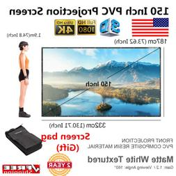 Excelvan150'' 16:9 Collapsible HD 3D 4K LCD DLP Projector Sc