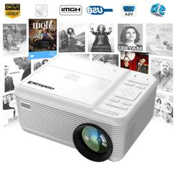 2-in-1 5000 Lumen LED Projector HD 1080P 3D 4K DVD Multimedi