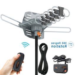 200 Mile Outdoor TV Antenna Motorized Amplified HDTV 1080P 4