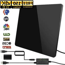 2019 Amplified HD TV Antenna Free Channels Indoor 150 Miles
