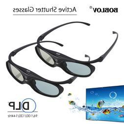 2x Active Shutter 3D Glasses For DLP-LINK Projectors BenQ Op