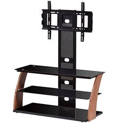 """Tangkula 3-Tier TV Stand Rack Console for 60"""" Screen Glass"""