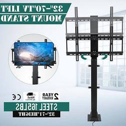 "32""-70"" Flat TV 1000mm Lift Mount w/ Remote Motor TV Stand L"