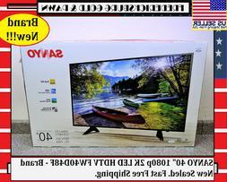 "SANYO 40"" 1080p 2K LED HDTV FW40D48F - Brand New Sealed. Fas"
