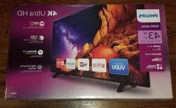 """Philips 43"""" Class 4K  Smart LED 4K HDTV  Brand New, Sealed!"""