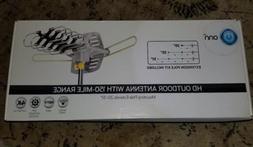 ONN 4K HD Motorized Outdoor TV Antenna with 150-Mile Range a