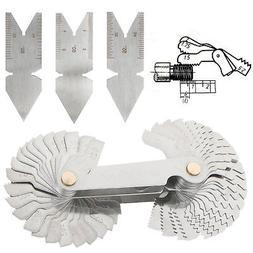 4Pcs Screw Thread Pitch Cutting Gauge Tool Set Centre Gage 5