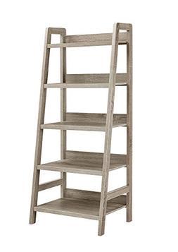 5 Shelf Bookcase Grey - Linon Home Decor