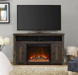 50 Inch TV Stand With Fireplace Media Console Electric Enter