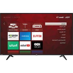 "TCL 55S517 55"" 4K UHD Dolby Vision HDR Roku Smart TV in Blac"