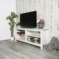 58 Inch Wide White Wash Finished Television Stand Home Enter