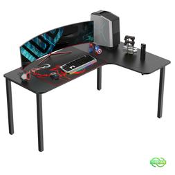 Eureka 60 Inch Computer Gaming Desk L Shaped Home Office Mul