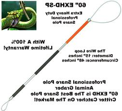 """60"""" inch Extra Heavy Duty Professional Animal Snare Pole"""