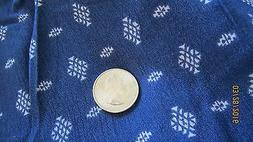 60 inch fabric.Fashion Fabric. White on Navy Geometric woven