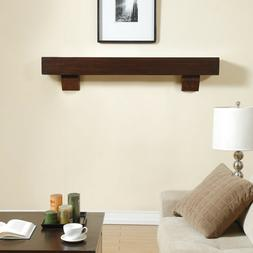 Duluth Forge 60-Inch Fireplace Shelf Mantel With Corbels - C