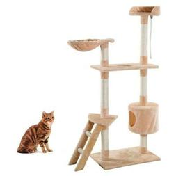 "60"" Inch Kitten Pet House Hammock Cat Tree Tower Condo Scrat"