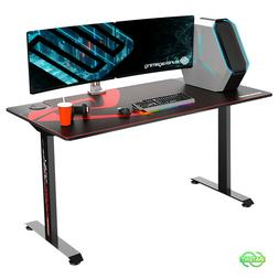 60 Inch Large Gaming Desk Large with Full-Size Mouse Pad Bla