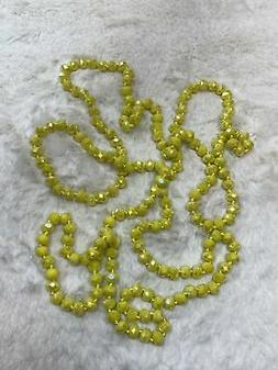60 inch Necklace - 8mm in Lemon Yellow