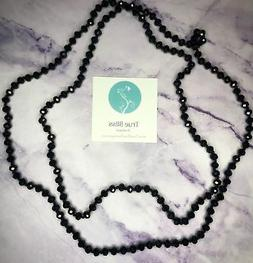 60 inch Necklace in Black