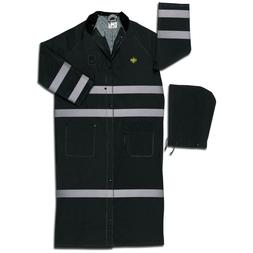 River City 60 Inch Reflective Raincoat with Detachable Hood,