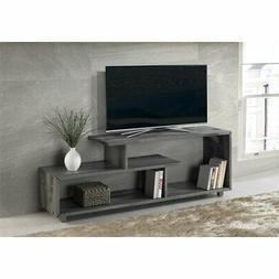 60 inch Rustic Solid Wood Asymmetrical TV Stand Console in G