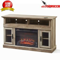 60 Inch TV Stand Entertainment Center Home Theater Brown Med