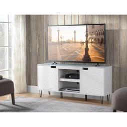+ 60 Inch White TV Stand Floor Entertainment Center Unit 6 S