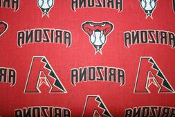 60 INCH WIDE ARIZONA DIAMONDBACKS 1/2 YARD 18X60 -  100% COT