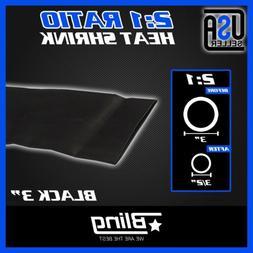 60inch 2 1 ratio black heat shrink