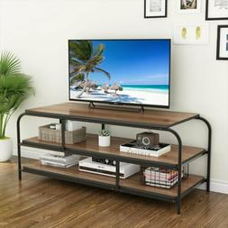LITTLE TREE 60inch 3-Tier Media Console Table with Shelves L