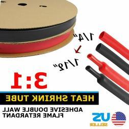 "60Inch  1/4""ID Dual Wall 3:1 Heat Shrink Tube Adhesive Glue"