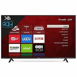TCL 65 in 4K UHD Smart Roku LED TV 120hz Refresh 1 Year Warr