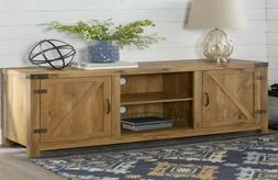 Walker Edison 65 Inches Wooden TV Stand Storage Console in B