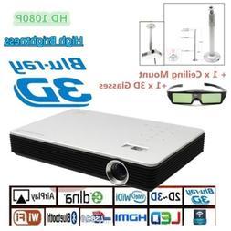 8000 Lumens 4K HD 1080P Home Theater Cinema LED DLP 3D Wifi
