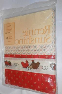 Rennie Sunshine  837 Hens 1 Pair Tier Curtains 60 inch wide