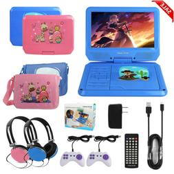 "9"" Portable DVD Player Swivel Screen CD TV VCD Video USB/SD"