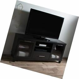 South Shore 9073662 Adrian Stand for Tvs Up to 60'',Black Oa