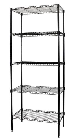 "Apollo Hardware Black 5-Shelf Wire Shelving 14""x24""x60"""