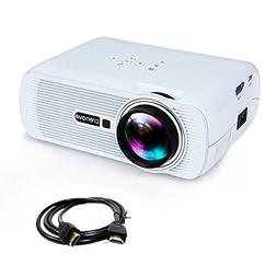 "Crenova XPE460 video projector with 180"" display, Full HD 10"