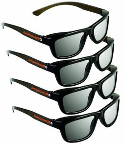ED 4 Pack CINEMA 3D GLASSES For LG 3D TVs – Adult Sized Pa