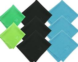 EXTRA LARGE 8-Pack  Winbee Microfiber Cleaning Cloth Designe