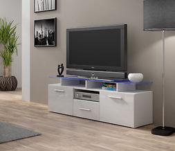Enea mini - white modern tv stands on sale with shelves / tv