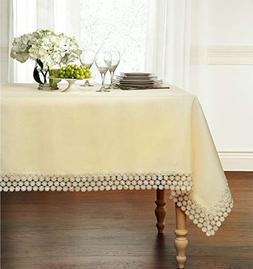 GoodGram Ultra Luxurious Textured Macrame Trim Fabric Tablec