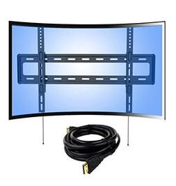 Loctek Curved Panel UHD HD Fixed TV Wall Mount Bracket for m